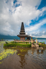 Pura Ulun Danu Bratan Temple on Bali in Indonesia