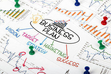 business plan concept with financial chart