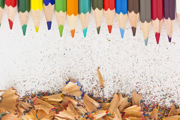 Pencils and pencil shavings