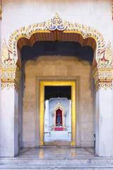 Marble Door of Temple Bangkok, Thailand