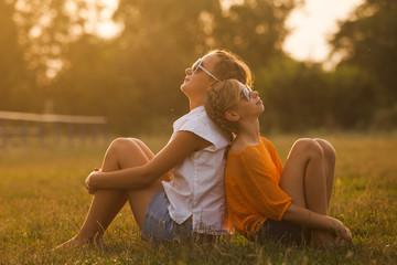 Two teenage girls