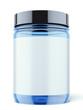 Blue Jar for sport supplements