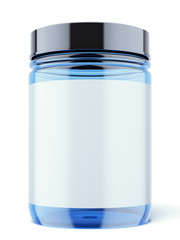 Blue Jar for sport supplements