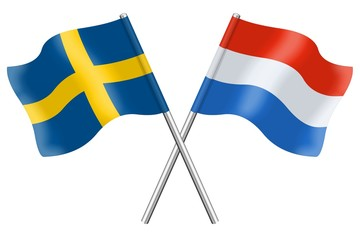 Flags : Sweden and Luxembourg