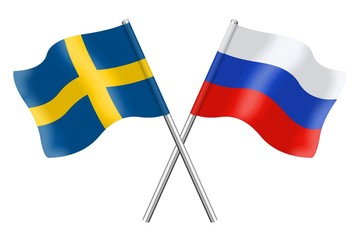 Flags : Sweden and Russia