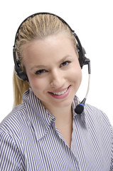 Helpline blonde girl