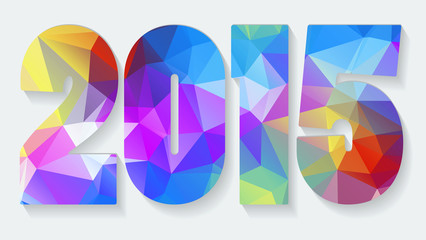 New Year background with text 2015