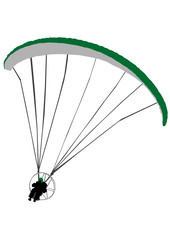 parachute with a motor