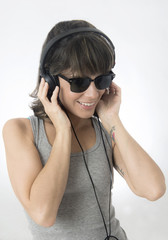 DJ Girl with sunglasses