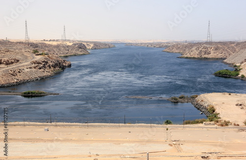 Aswan Dam. The High Dam. Aswan, Egypt.