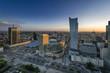 Sundown over Warszawa city
