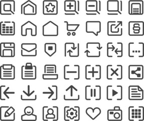 Icons Web linear