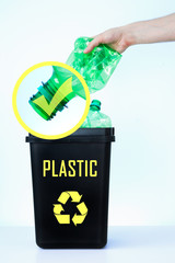 Container for recycling - plastic.