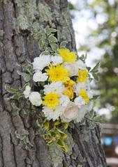 Wedding flowers on a tree