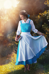 """beautiful girl in cosplay Belle of the animated film """"Beauty and"""