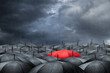 red umbrella concept - 69129288
