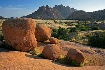 Granite rock landscape, Spitzkoppe, Namibia