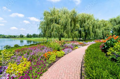 In de dag Tuin Chicago Botanic Garden