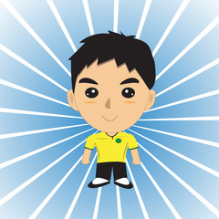 Men  cartoon  Background  Sun Rays
