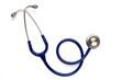 Old blue stethoscope on isolated - 69129616
