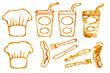 Ketchup-Bilder Kochmütze Trinkbecher Bratwurst II
