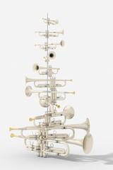 Albero di Natale con trombe