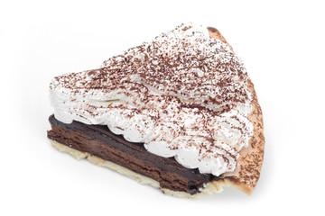Chocolate Tart isolated on white background