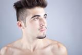 Portrait of a handsome man, studio fashion portrait