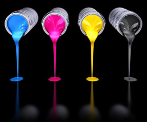 CMYK on a black background