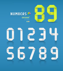 Paper origami numbers collections design