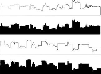 silhouette of city in black interpretation part 4