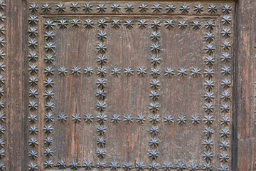 Spanish wood door