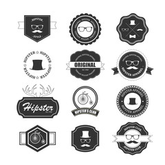 Hipster style badges set. Illustration eps10