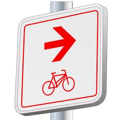 Fahrradswege - Richtung rechts