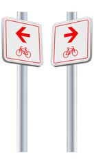 Fahrradsweg - Richtung links und rechts