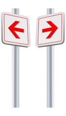 Richtung  - Schilder rechts und links