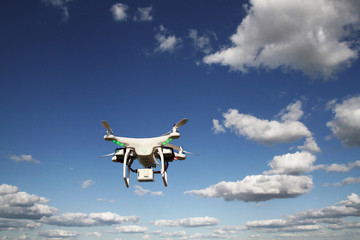 Drone - UAV - flying in the sky