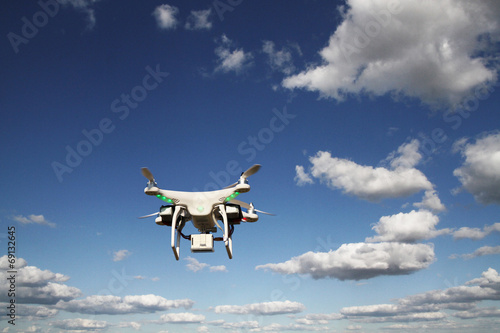Drone - UAV - flying in the sky Poster