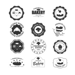 Vintage bakery labels set. Fully editable EPS10 vector.