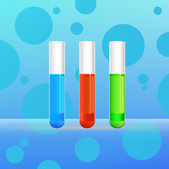 Laboratory background with test tube