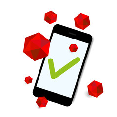 virus attack smart phone background vector