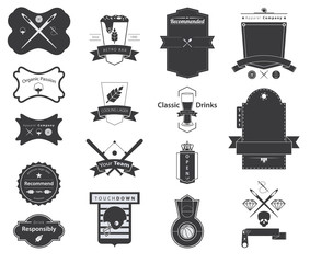 Icon Set of Vector Retro Badges, Logos, Labels and Banner