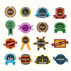 Award badges icons set. Illustration eps10