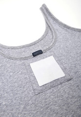 undershirt  on white background