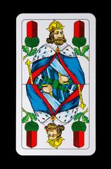 Spielkarte - König Eichel