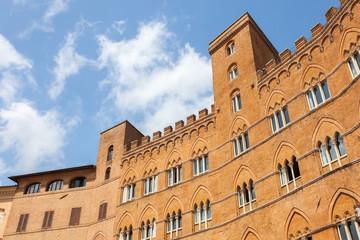 Palazzo Sansedoni, Siena piazza del Campo. Italy