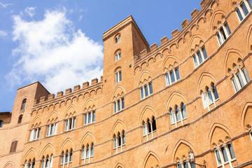 Siena, Palazzo Sansedoni in Piazza del campo, Italy