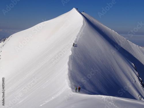 Poster Alpen Arête des Dômes de Miage, Massif du Mont Blanc