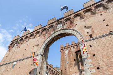 Siena, Porta Romana. Tuscany, Italy