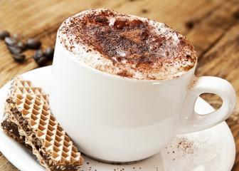 Fresh Italian Cappuccino with Cookies